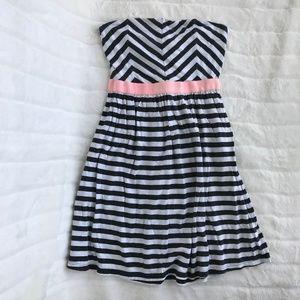 Roxy Chevron/Striped Strapless Dress